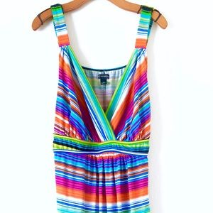 New Directions Woman Neon Maxi Dress